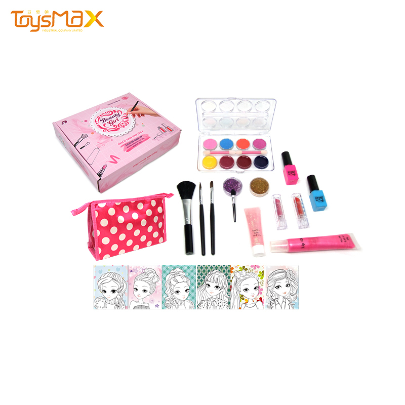 2020 New Arrival Safety Non-toxic Kit Girls Toy Cosmetics Makeup Set Play House Toys For Children