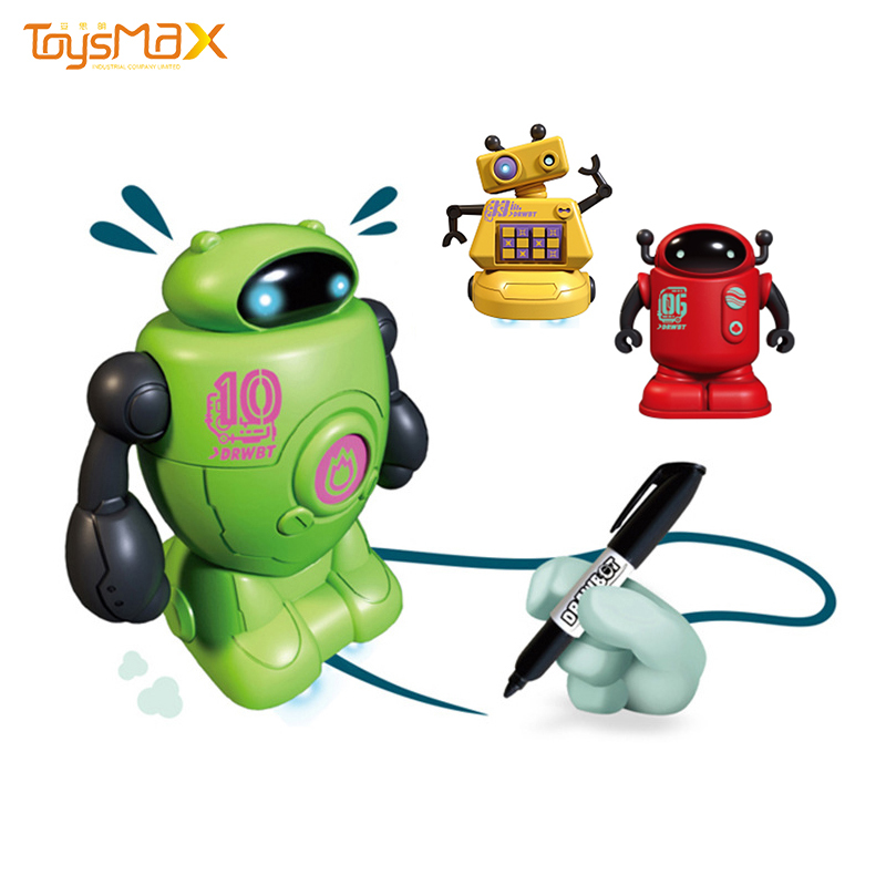 Funny Design Induction Drawing Mini Robot Electric Line Follower Robot Toys For Kids