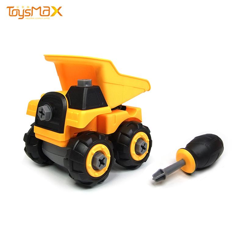 2020 New Funny Build Block Bricks Diy Toys Assemble Truck Car Blocks Diy Car Kit Dump Truck