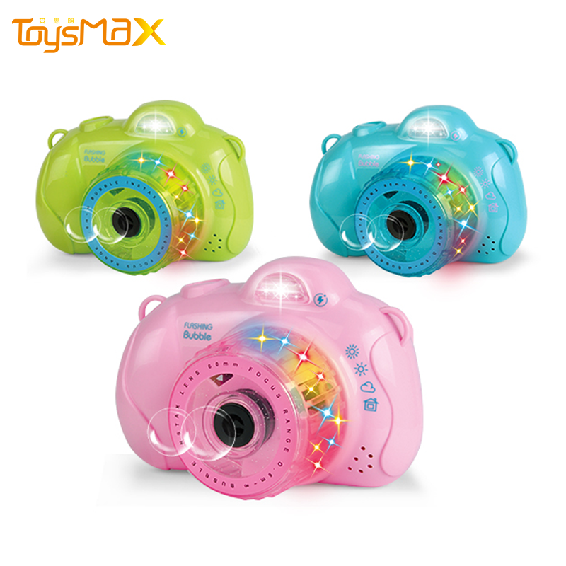 Colorful Bubble Camera Toy Summer Amazon Hot Sale Bubble Machine Outdoor Bubble Camera With Music And Light