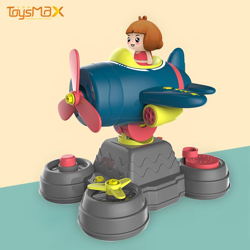 New design educational toys funny DIY plane play ground desktop toys for kids
