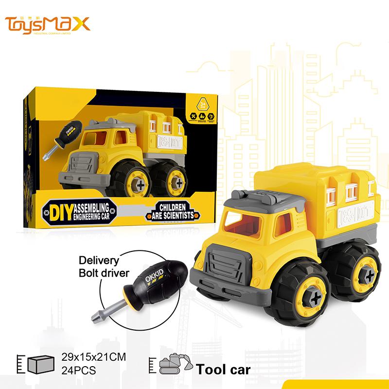 2019 New Funny Build Block Bricks Diy Toys Assemble Truck Car Blocks Diy Car Kit Tool Car