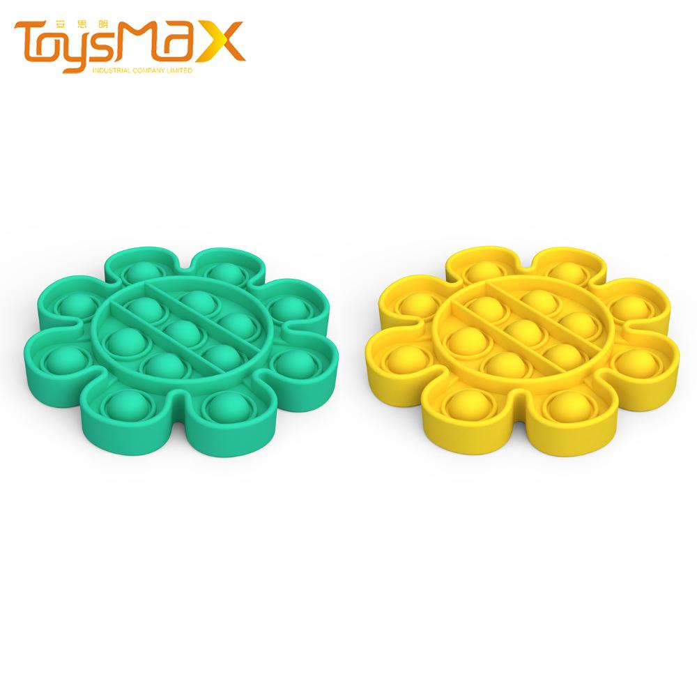 Wholesale Math Educational Toys Flower-shap Silicone Push Pop Bubble Sensory Fidget Toy