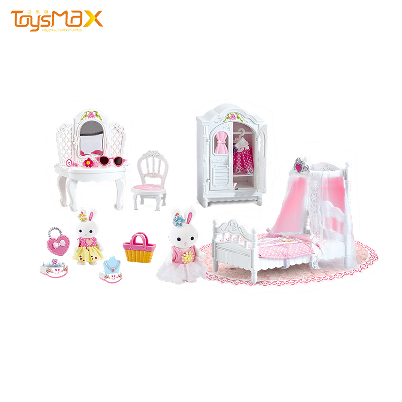 New arrival funny accessories girl toys DIY doll house for children playing