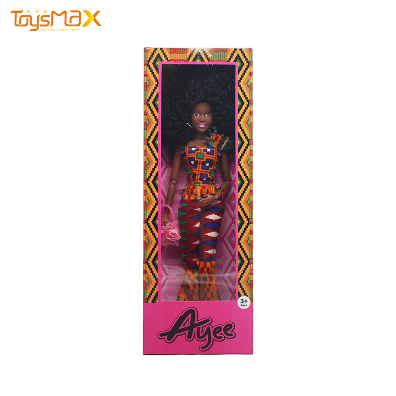 12.5 Inch Black Doll Set African American Trending Dolls Girls Toy Fashion Skirts Black Dolls For Girls