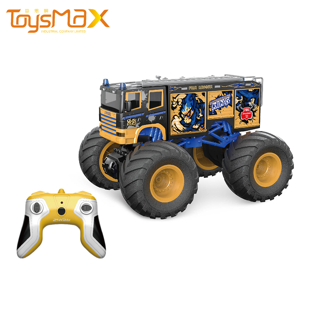 2021 New Item 2.4Ghz 1:18 Big Wheel Remote Control Racing Cars RC Monster Truck With Light And Sound
