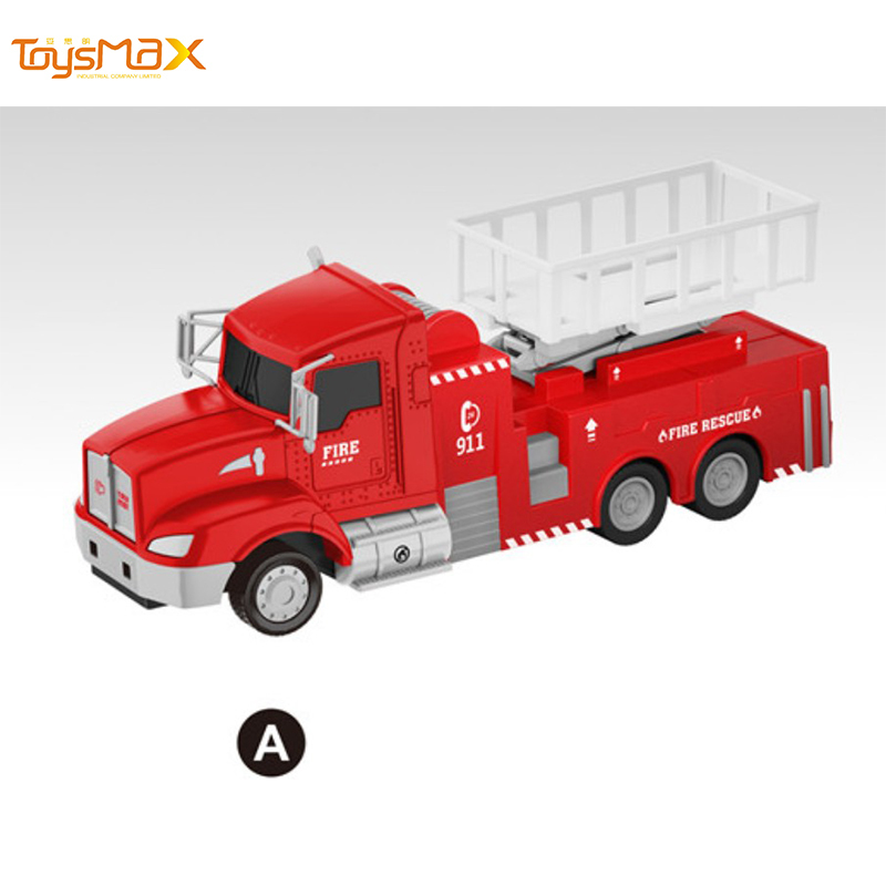 1:46 Scale America New Popular Pull Back Alloy Fire Truck Toys Battery operated Die Cast Model Truck