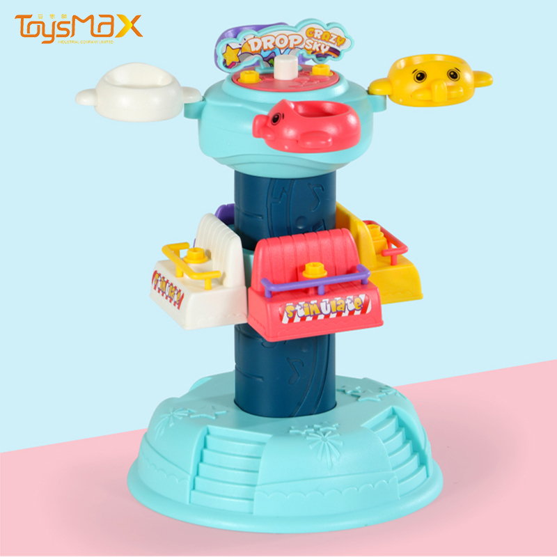 New Arrival Luxury Spiral Rotation Toys Jumping Machine Game DIY Education Toys