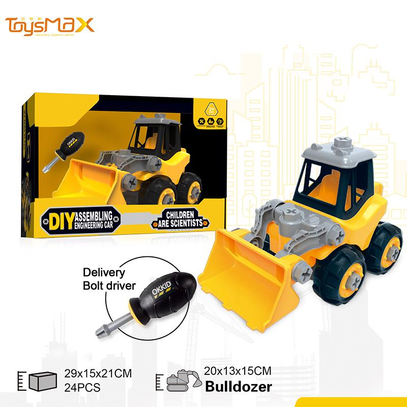 2019 Latest Funny Build Block Bricks Diy Toys Assemble Truck Car Blocks Diy Car Kit Bulldozer