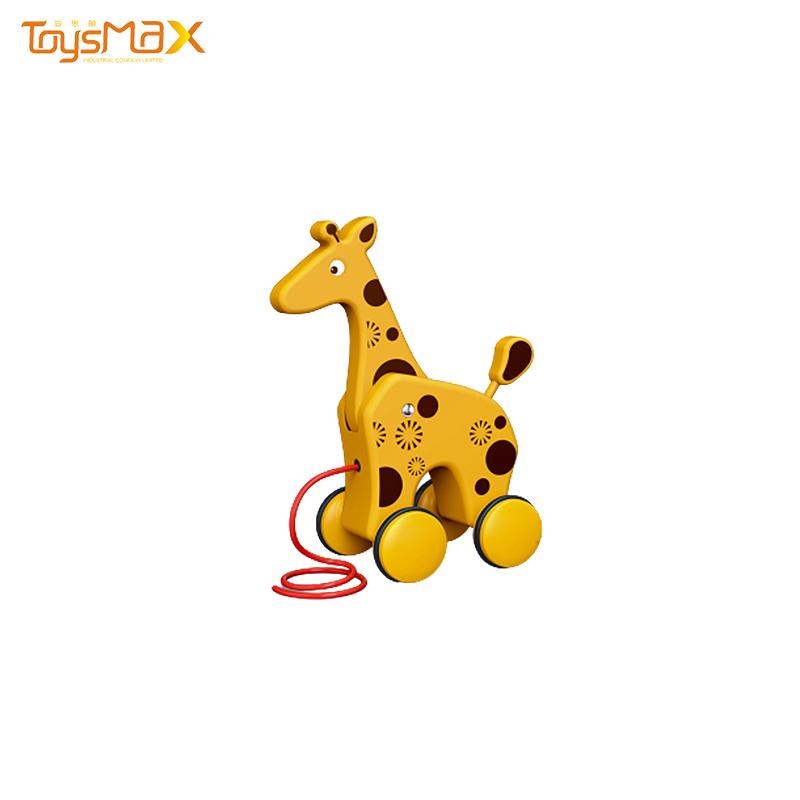Best selling kindergarten cartoon animals educational toys toddler drag toys for baby