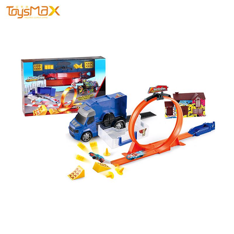 Novelty Products DIY assemble race car slot plastic track toy car