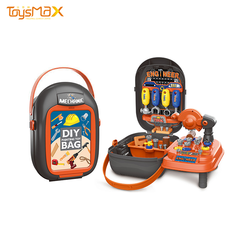 New arrival children DIY Construction Suitcase Pretend Tool Play Tool tool carry case