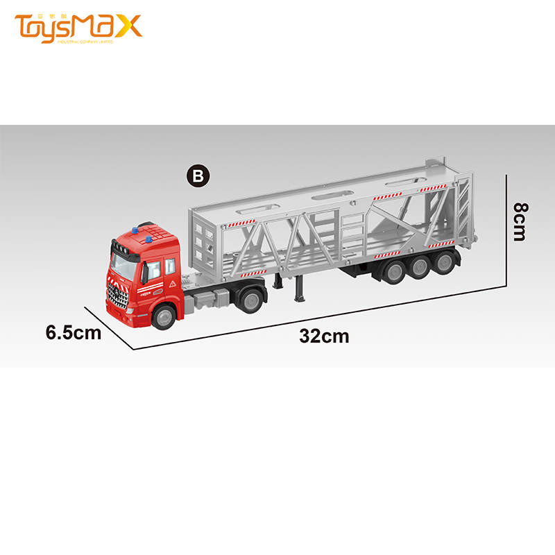 New Europe Style 1:46 Diecast Alloy Toys Truck Trailer Metal Pull back Truck Trailer