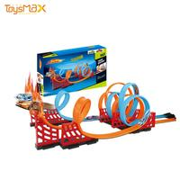 Toysmax Assembly Pull Back Cars Hot Wheel Magic Race Track For Kids