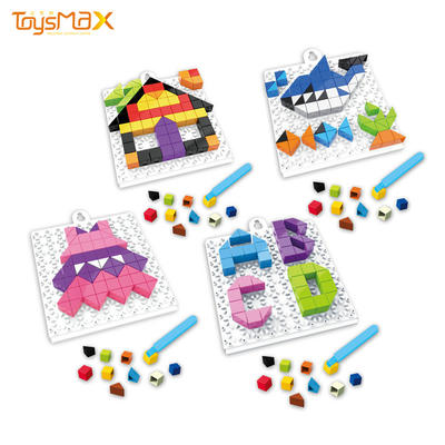 98pcs Children cube puzzle baby learning game brick puzzle 4 in 1