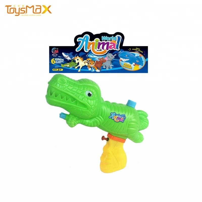New style summer toys plastic animal shape dinosaur water guns for kids for wholesale