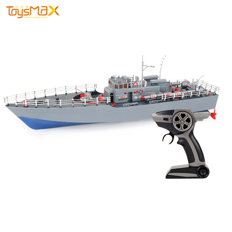Unique design 4 channel 1:115 waterproof rechargeable 2.4G remote control rc boat with light