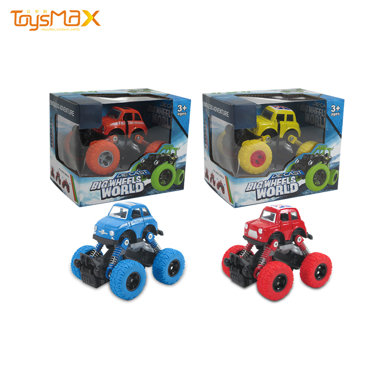 Amazon best selling 4 styles alloy pull back car vehicle toy with shockproof device