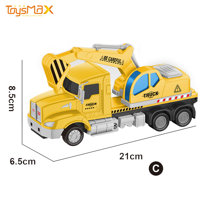1:46 Scale New US Popular Pull Back Alloy Engineering Truck Toys Battery operated Die Cast Model Truck