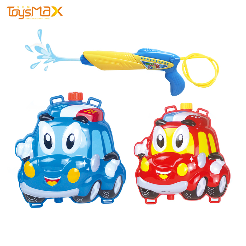 Hot sale cute cartoon car backpack bath toy water squirting for kids