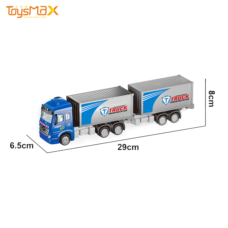 Europe style 2019 New hot sale 1:46 Diecast Alloy Toys Truck Trailer Metal Truck Toy Trailer