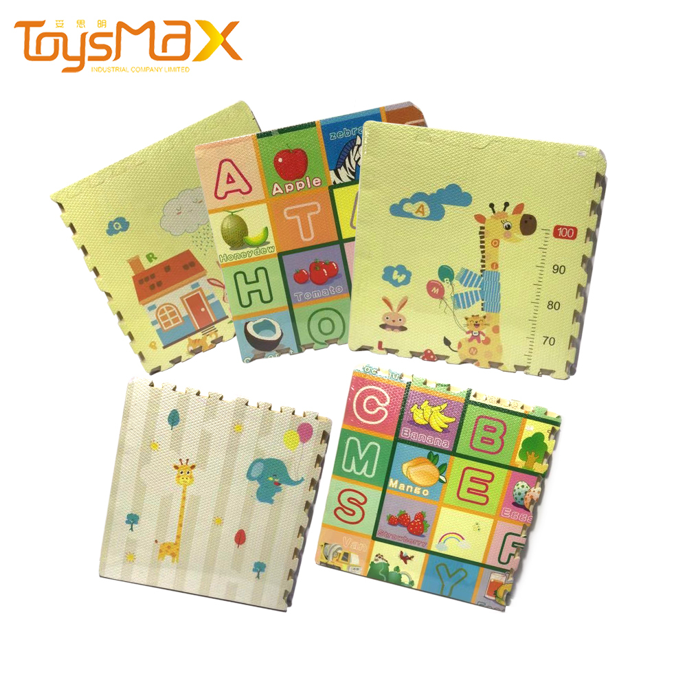 Wholesale Multi-style Interlocking Foam Number Animal Mat Children Play EVA Puzzle Mat With 4 Pieces