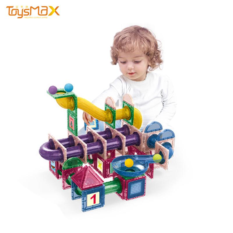 Factory direct new design 3D educational toy 177pcs DIY magnetic tiles for kids