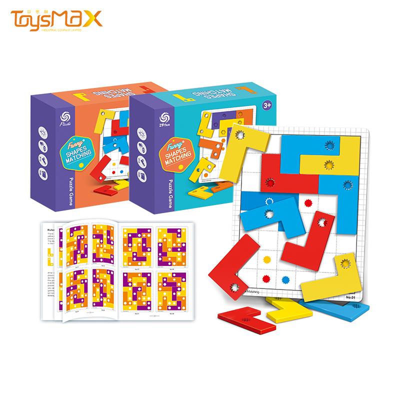 Hot Sale Colorful Educational Desktop Smart Games Puzzle Jigsaw Shape Matching Toy