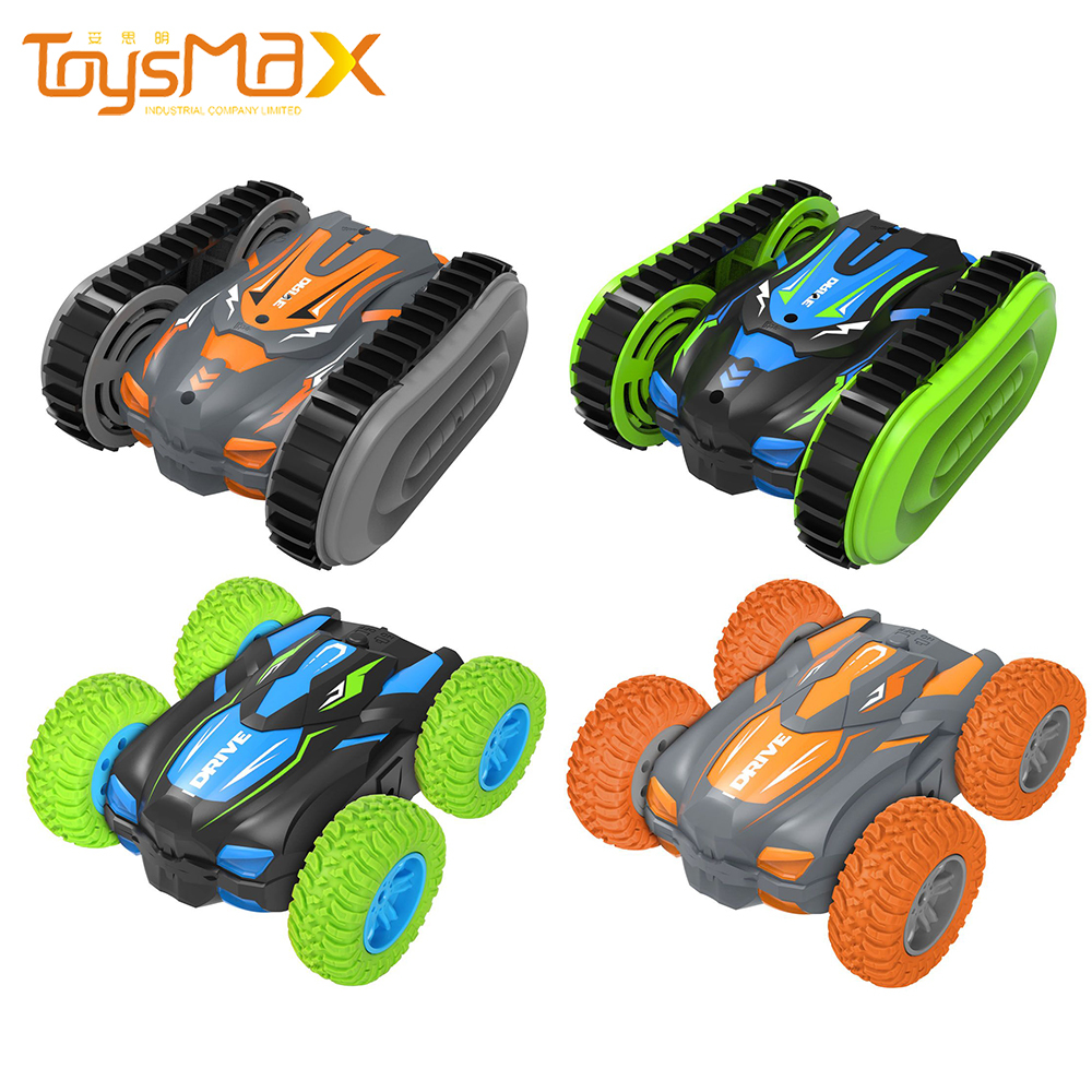 Amazon New Toys 360 Degree Waterproof Double Sided Amphibious RC Stunt Car With Waterproof Remote Control