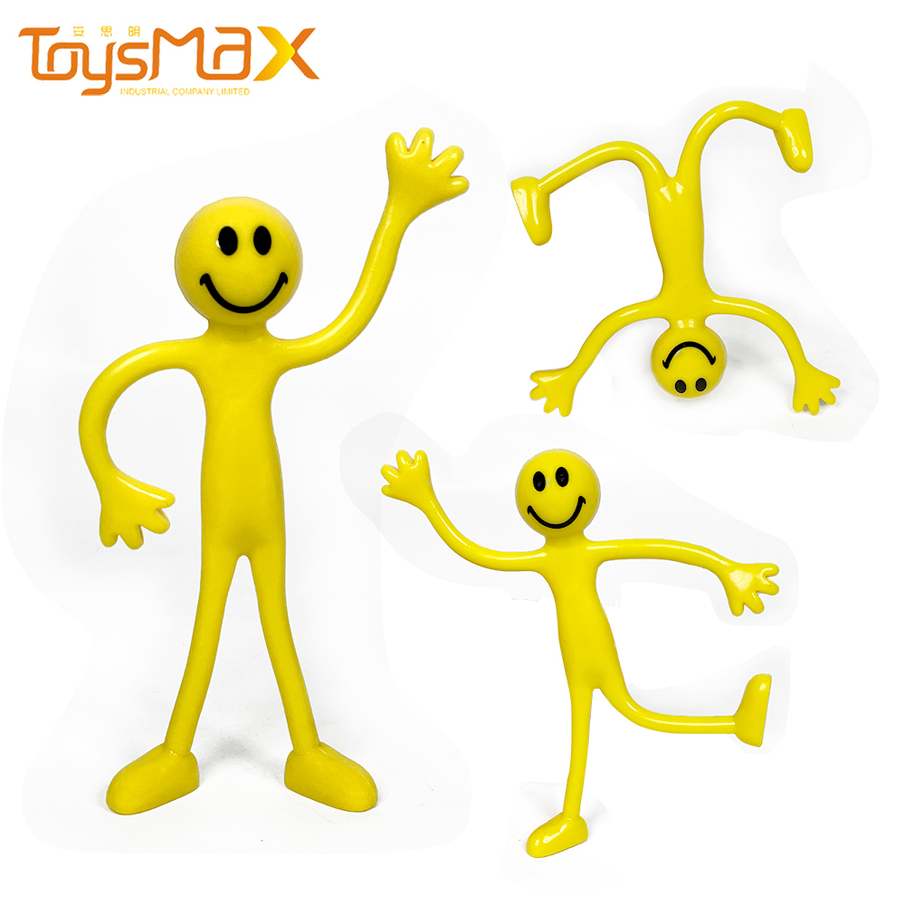 New Push Customized Bendable Wire Man Fidget Toys Set Bendy Smiling Man Simple Dimple Fidget Relief Toys