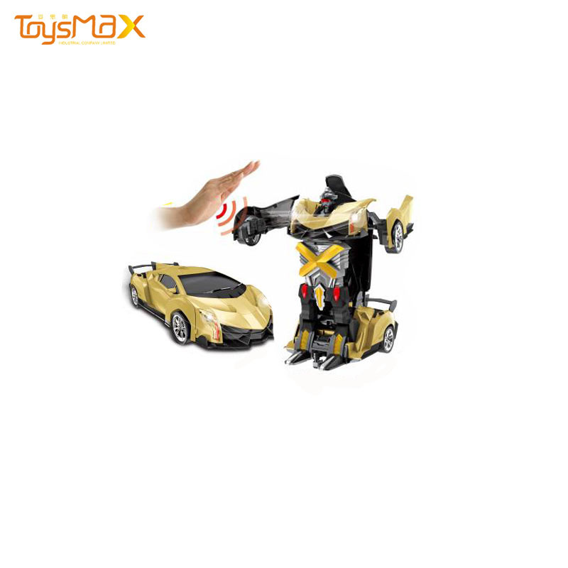 Radio Control Toys Deformation Robot Car Toys  2 in 1 Transform Robot Induction Vehicle