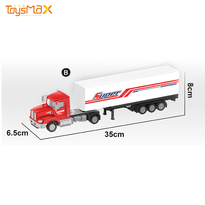 New hot sale US Styles 1:43 Diecast Alloy Toys Truck Trailer Metal Truck Toy Trailer