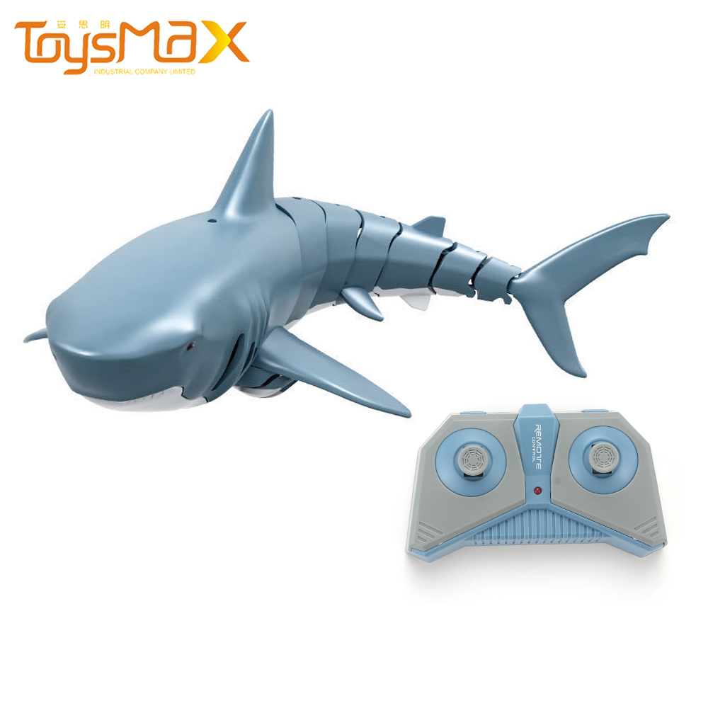 Hot selling  2.4G Simulation Remote Control Shark Boat Toys For Swimming Pool Bathroom Toys Kids Electric Water Tank Pool Toys
