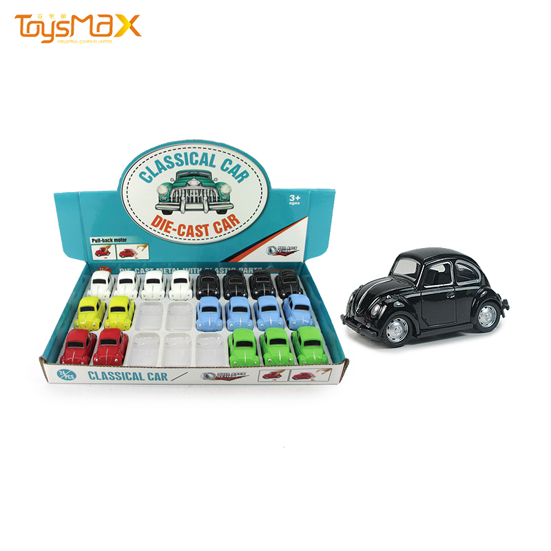 6 colors mini pull back alloy metal toys creative classic car toy