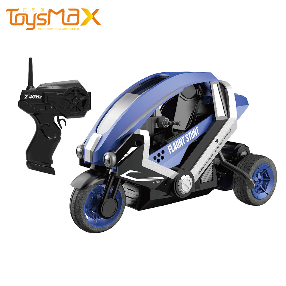 2.4Ghz Full Function Radio Control Motorbike 1/8 High Speed Electric Various Stunt Action RC Stunt Car With LED Light