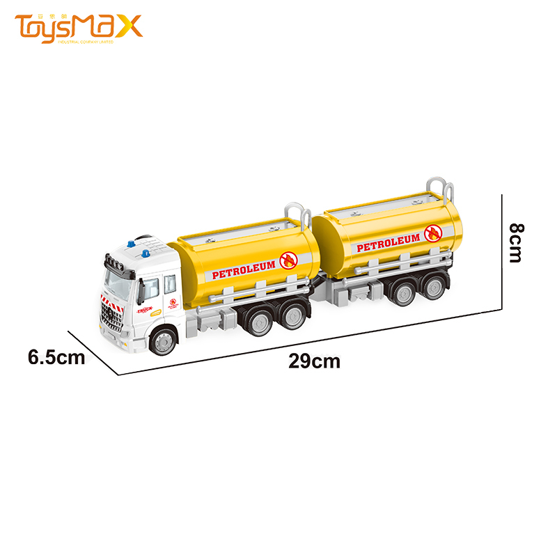 China  New Hot Sale 1:46 Diecast Alloy Toys Truck Trailer Metal Oil Tank Trailer