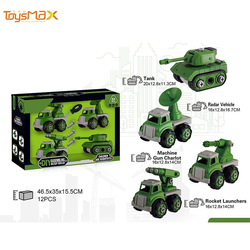 Educational Tank Model Diy Construction Truck Toy Kids Car DIY Car