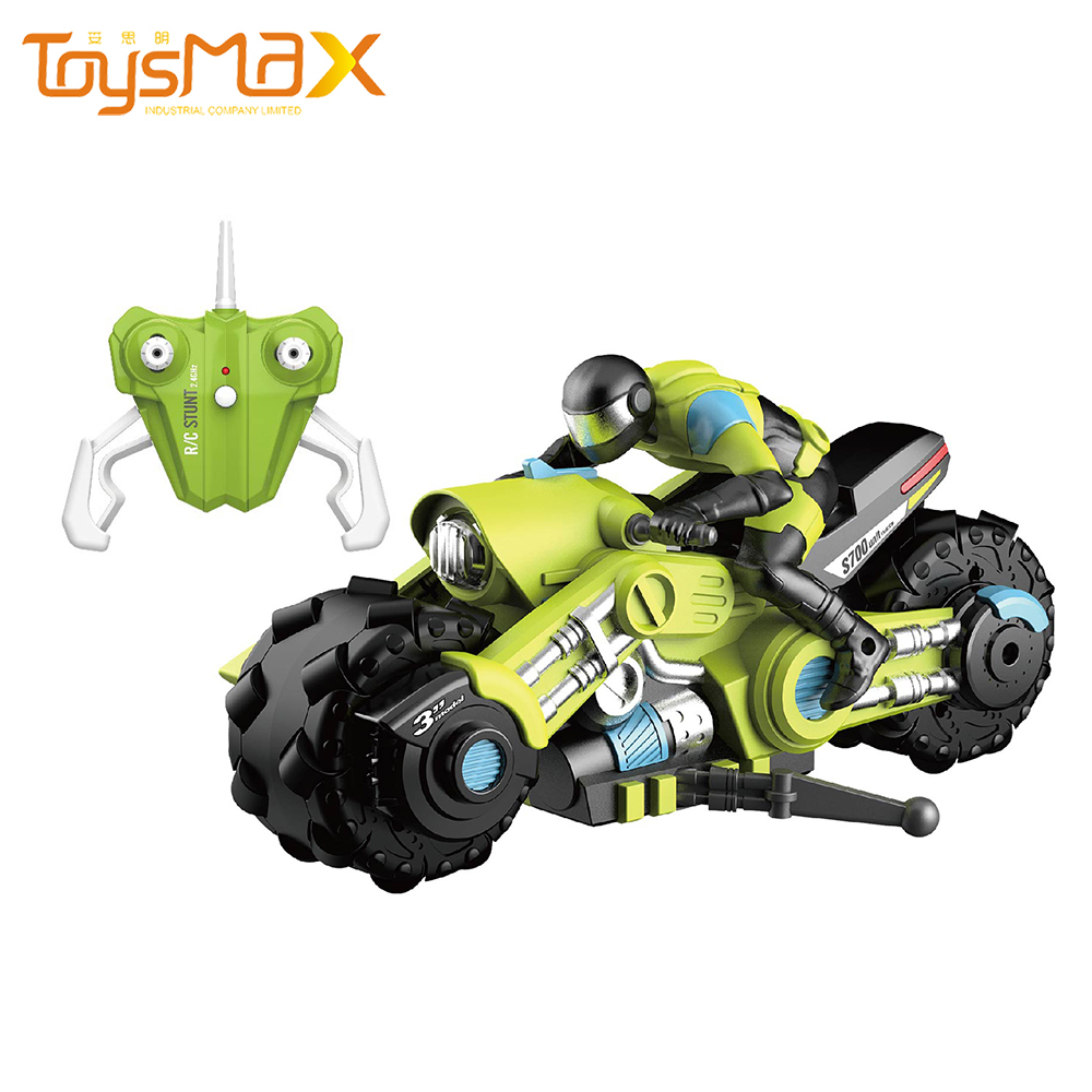 Factory Direct Remote Control 1:10 360 Degree Stunt Drift RC Motorcycle With LED Light