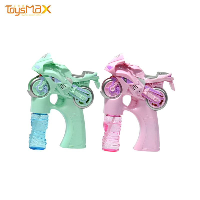 High quality outdoor toys electric colorful motorcyclebubble machine toy with music light