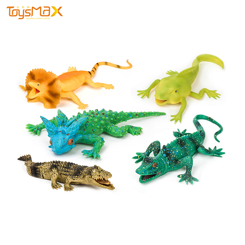 Amazon Hot Sale Educational Toys TPR Simulation Lizard Animals Model For Kids