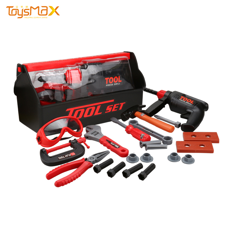 Quality Children Safely Plastic Toy Tool Set Electric Drill Toy For Pretend Game