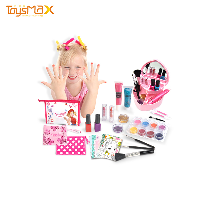 China manufactured pids pretend play toys heat-shaped makeup kits for girls cosmetic