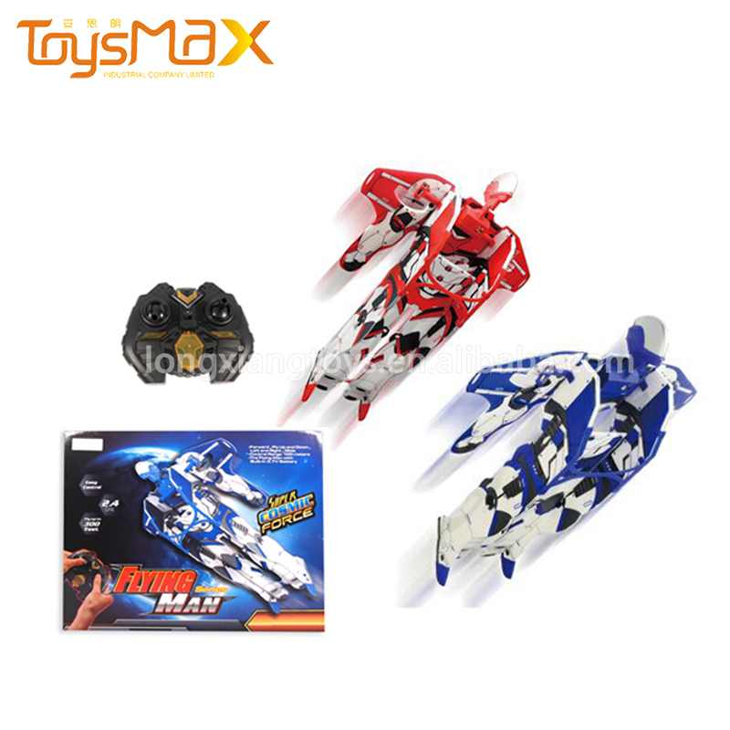 Cheap 2.4G rc robot spaceman outdoor flying toy robot