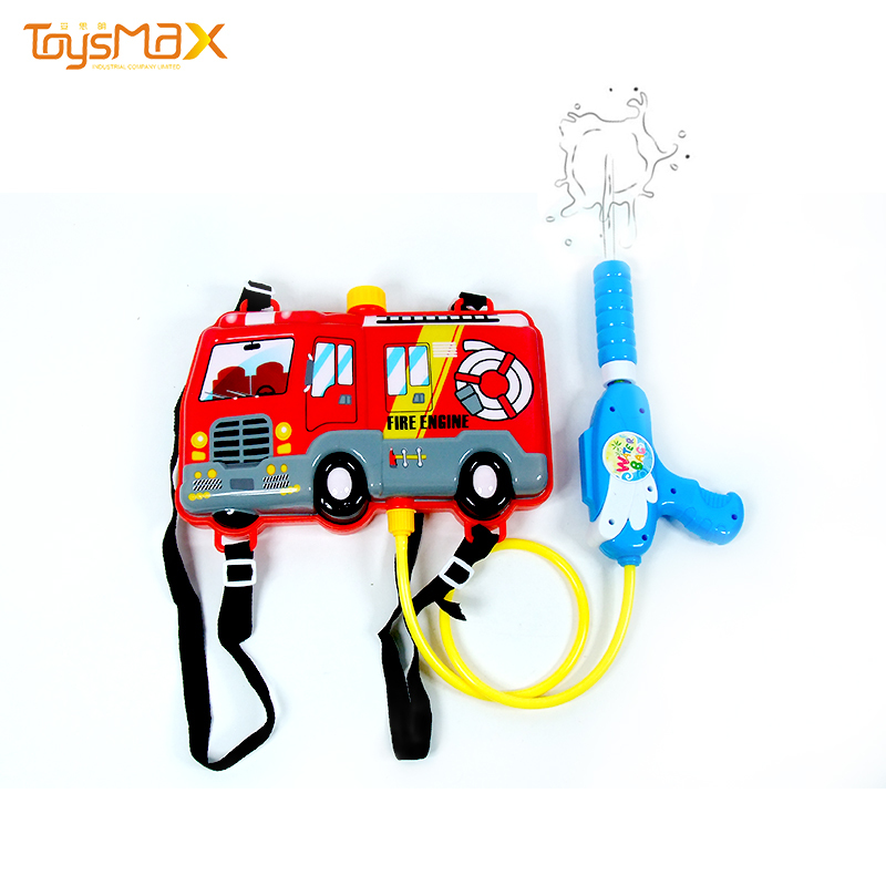 New arrival vehicle style backpack cheap water gun promotional toys for summer outdoor toys