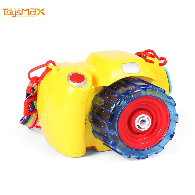 Children's Bubble Toy Outdoor Summer Camera Bubble Machine With Light and Music