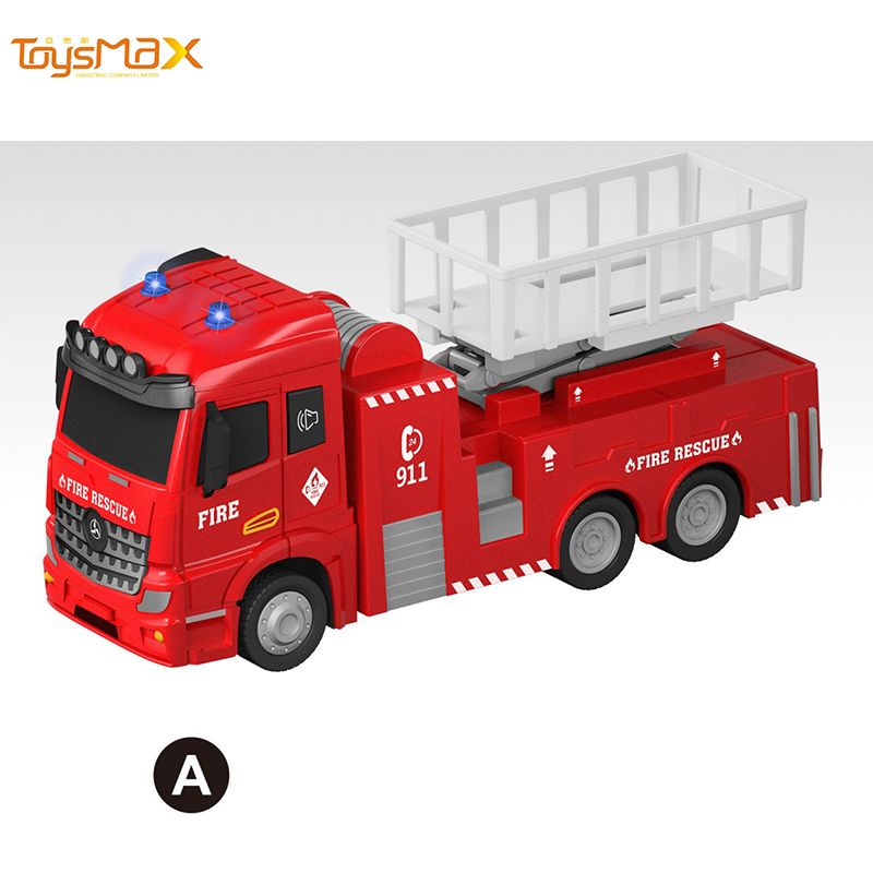 1:46 Scale New Popular Pull Back Alloy Fire Truck Toys Battery operated Die Cast Model Truck
