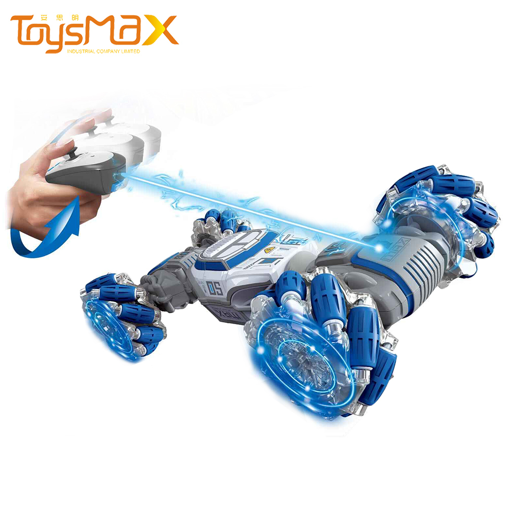 Hot Selling 2.4G Remote Control Twisted Cars Toys 1/14 Scale Double Sided RC Car With Light