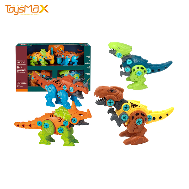 Kids educational toys different style dinsour animal assembly toys