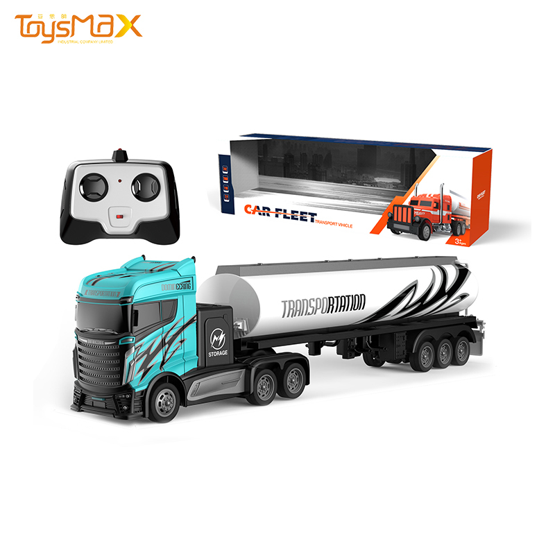Quality New arrival 1:16 4 Channels 2.4G Remote Control Oil tank RC Truck Trailer Toys