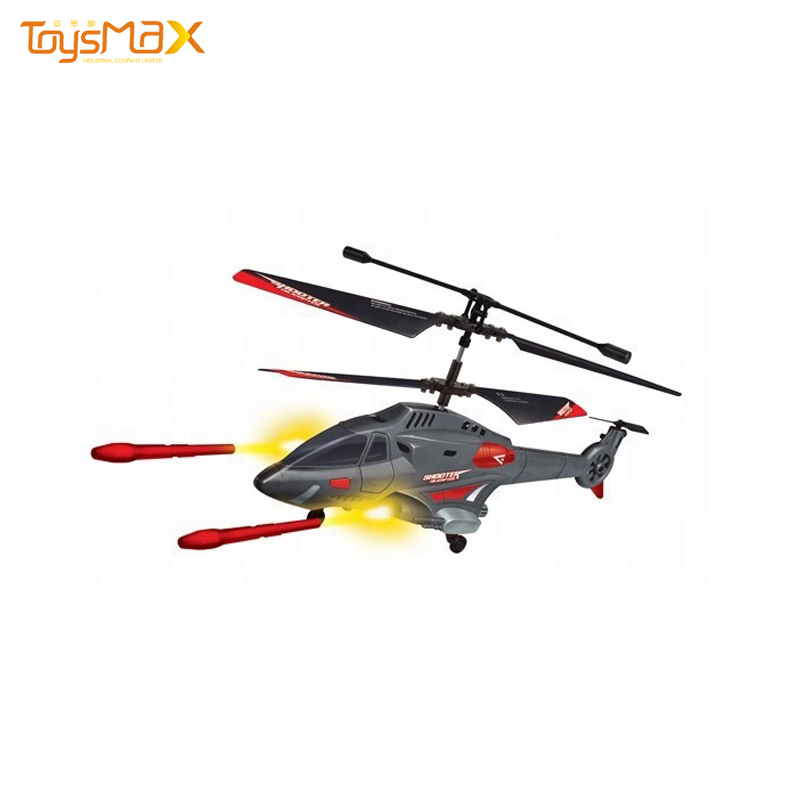 Toys For Kids 3.5 Channel Infrared Control Helicopter Shooting Bullets RC Airplane With Missile Fantastic Toys